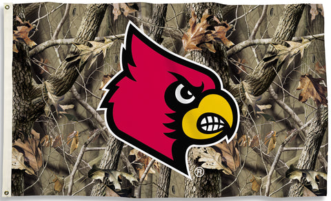 Louisville Cardinals 3' x 5' Flag (Realtree Camo) NCAA
