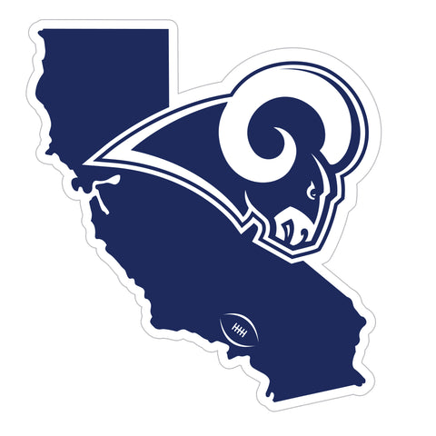 Los Angeles Rams Home State Magnet (NFL) California Shape