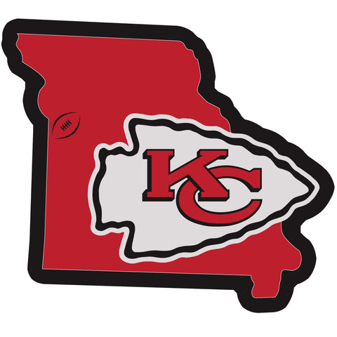 Kansas City Chiefs Home State Magnet (NFL) Missouri Shape
