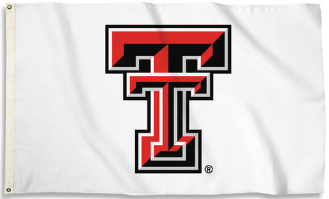 Texas Tech Red Raiders 3' x 5' Flag (Logo Only on White) NCAA