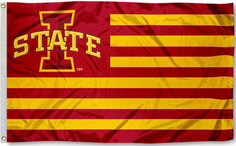 Iowa State Cyclones 3' x 5' Flag (Stripes) NCAA