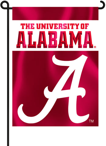 "Alabama Crimson Tide 13"" x 18"" Two Sided Garden Flag (Script ""A"") NCAA"