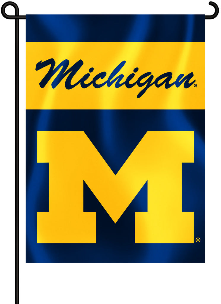 "Michigan Wolverines 13"" x 18"" Two Sided Garden Flag NCAA"