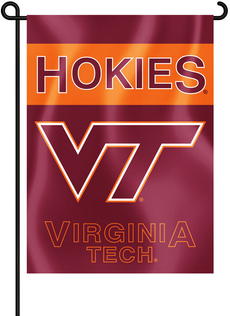 "Virginia Tech Hokies 13"" x 18"" Two Sided Garden Flag NCAA"