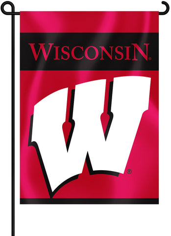 "Wisconsin Badgers 13"" x 18"" Two Sided Garden Flag NCAA"