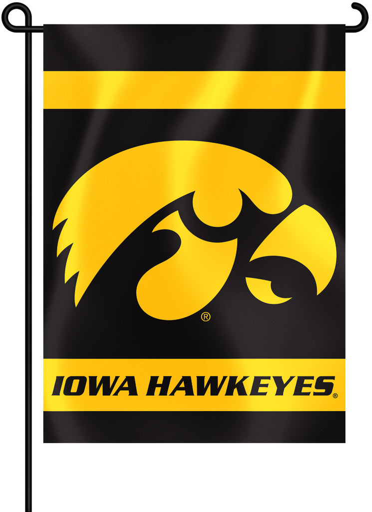 "Iowa Hawkeyes 13"" x 18"" Two Sided Garden Flag NCAA"