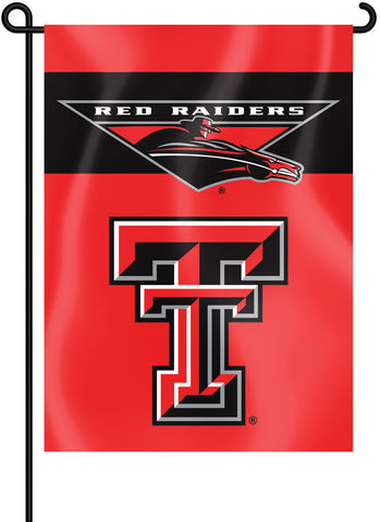 "Texas Tech Red Raiders 13"" x 18"" Two Sided Garden Flag NCAA"