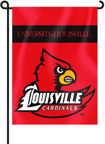 "Louisville Cardinals 13"" x 18"" Two Sided Garden Flag NCAA"
