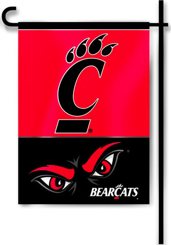 "Cincinnati Bearcats 13"" x 18"" Two Sided Garden Flag NCAA"