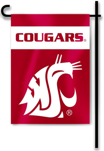 "Washington State Cougars 13"" x 18"" Two Sided Garden Flag NCAA"