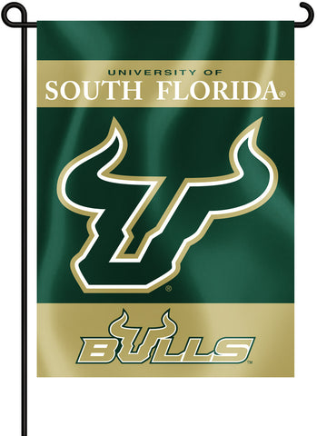 "South Florida Bulls 13"" x 18"" Two Sided Garden Flag NCAA"