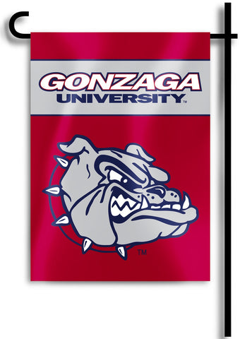 "Gonzaga Bulldogs 13"" x 18"" Two Sided Garden Flag NCAA"