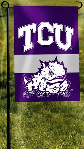 "TCU Horned Frogs 13"" x 18"" Two Sided Garden Flag NCAA"