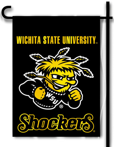 "Wichita State Shockers 13"" x 18"" Two Sided Garden Flag NCAA Licensed"