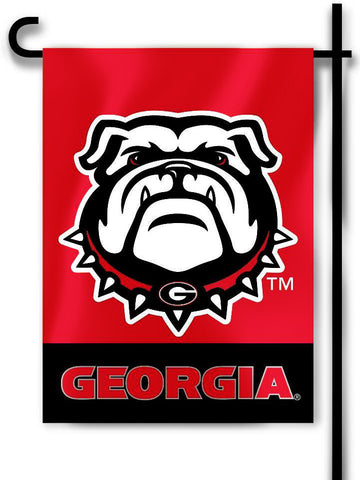 "Georgia Bulldogs 13"" x 18"" Two-Sided Garden Flag (Bulldog) NCAA"