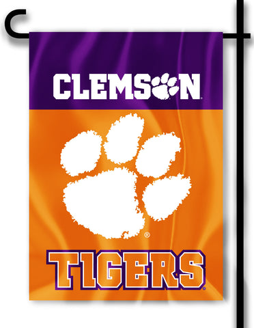"Clemson Tigers 13"" x 18"" Two Sided Garden Flag (NCAA)"