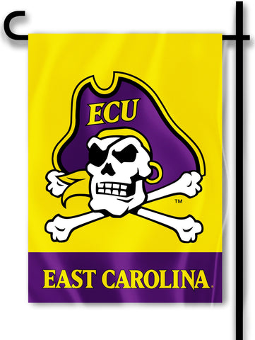 "East Carolina Pirates 13"" x 18"" Two Sided Garden Flag (ECU) NCAA"