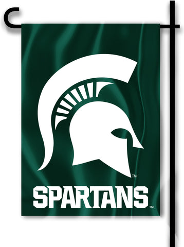 "Michigan State Spartans 13"" x 18"" Two-Sided Garden Flag (Spartan) NCAA"