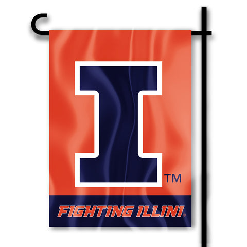 "Illinois Fighting Illini 13"" x 18"" Two Sided Garden Flag NCAA"