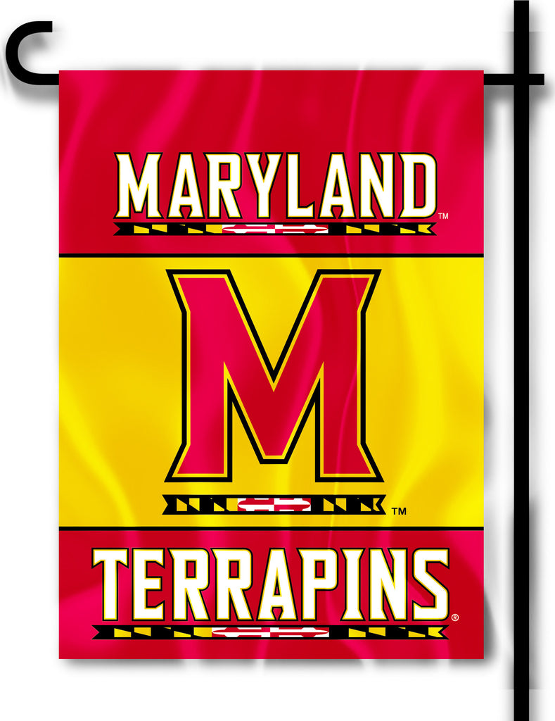 "Maryland Terrapins 13"" x 18"" Two Sided Garden Flag NCAA"