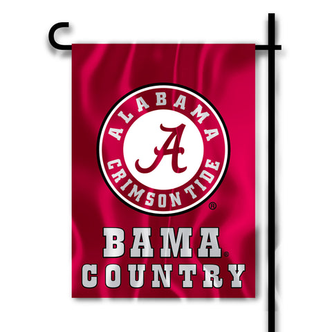 "Alabama Crimson Tide 13"" x 18"" Two Sided Garden Flag (Bama Country) NCAA"