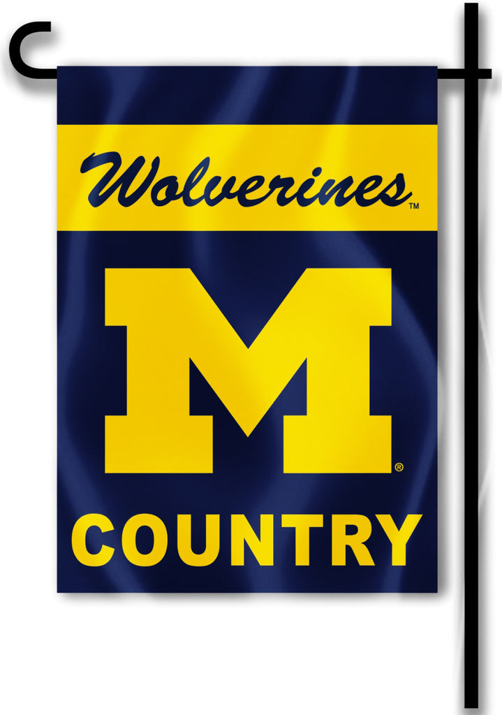 "Michigan Wolverines 13"" x 18"" Two Sided Garden Flag (Wolverines Country) NCAA"