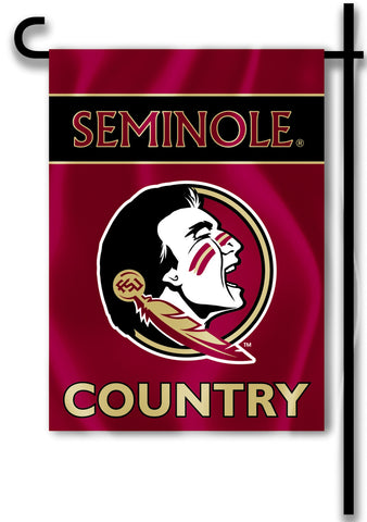 "Florida State Seminoles 13"" x 18"" Two Sided Garden Flag (Seminole Country) NCAA"