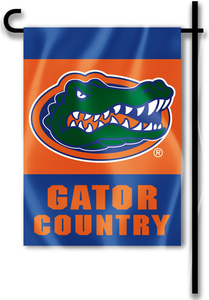 "Florida Gators 13"" x 18"" Two Sided Garden Flag (Gator Country) NCAA"
