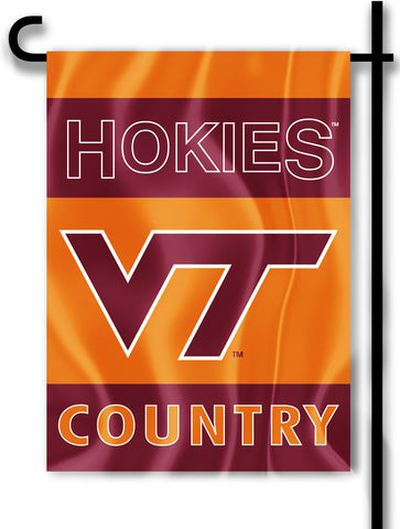 "Virginia Tech Hokies 13"" x 18"" Two Sided Garden Flag (Hokies Country) NCAA"