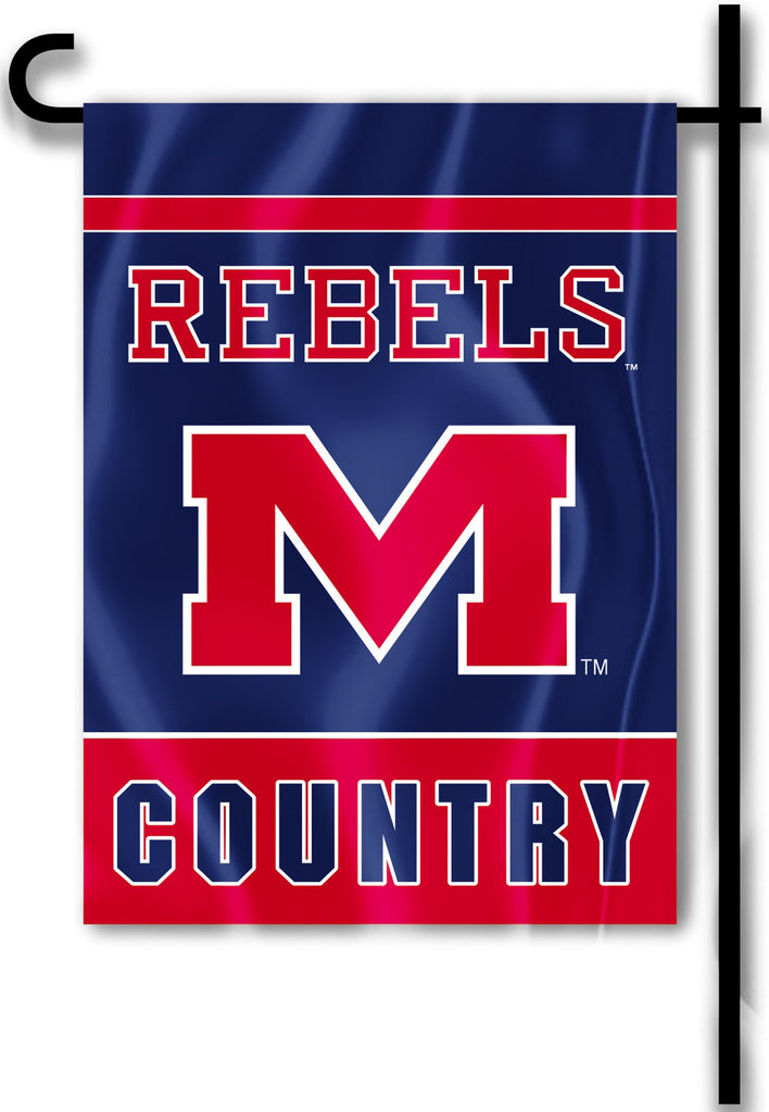 "Ole Miss Rebels 13"" x 18"" Two Sided Garden Flag (Rebels Country) NCAA"
