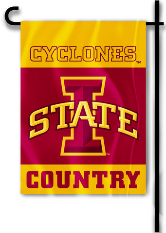 "Iowa State Cyclones 13"" x 18"" Two Sided Garden Flag (Cyclones Country) NCAA"