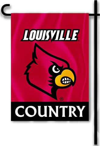 "Louisville Cardinals 13"" x 18"" Two Sided Garden Flag (Louisville Country) NCAA"