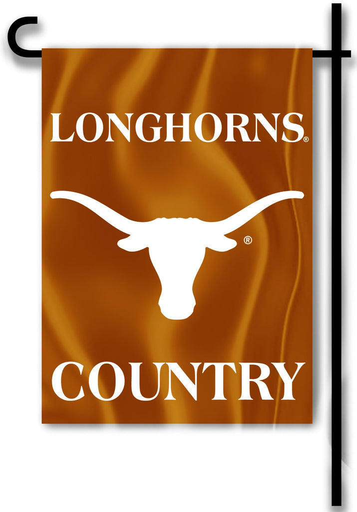 "Texas Longhorns 13"" x 18"" Two Sided Garden Flag (Longhorns Country) NCAA"