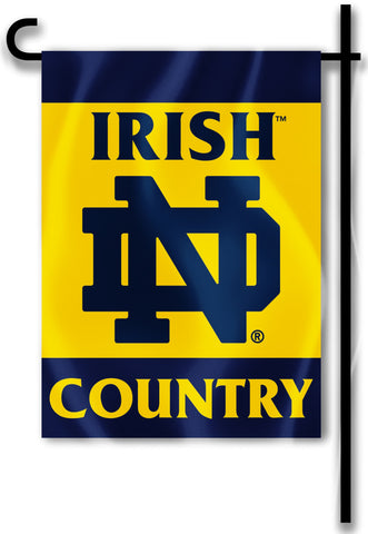 "Notre Dame Fighting Irish 13"" x 18 Two Sided Garden Flag (Irish Country) NCAA"