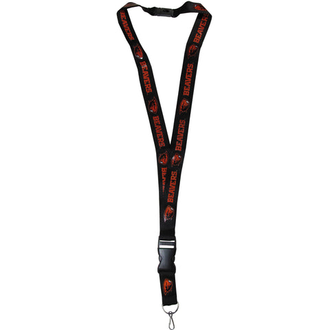 "Oregon State Beavers 21"" Lanyard Key Chain w/ Safety Release (Black) NCAA"