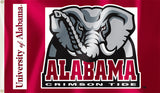 Alabama Crimson Tide 3' x 5' Flag (Elephant with Wordmark) NCAA