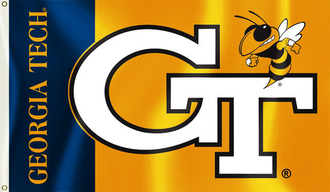 Georgia Tech Yellowjackets 3' x 5' Flag (Logo w/ Wordmark) NCAA