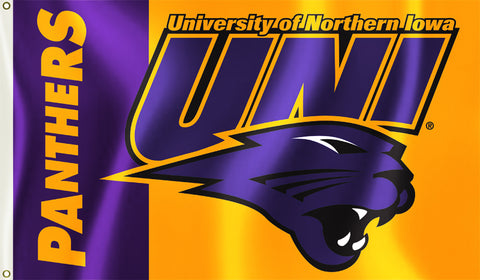 Northern Iowa Panthers 3' x 5' Flag (Logo with Wordmark) NCAA