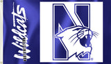 Northwestern Wildcats 3' x 5' Flag (Logo with Wordmark) NCAA