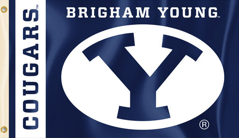 BYU Cougars 3' x 5' Flag (Logo w/ Wordmark) NCAA