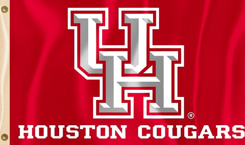 Houston Cougars 3' x 5' Flag (Logo with Wordmark) NCAA