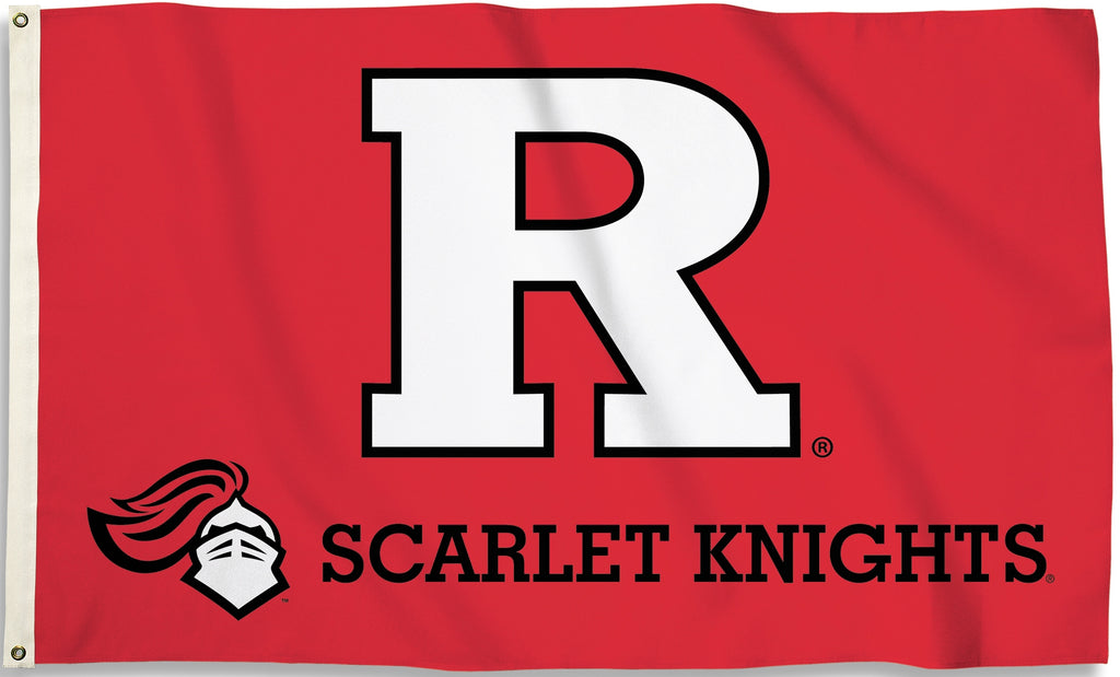 Rutgers Scarlet Knights 3' x 5' Flag (Logo with Wordmark) NCAA