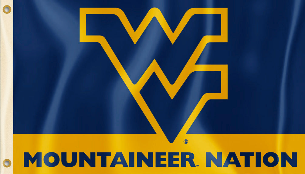 West Virginia Mountaineers 3' x 5' Flag (Mountaineer Nation) NCAA