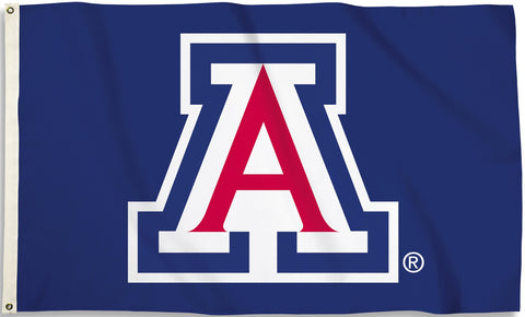 Arizona Wildcats 3' x 5' Flag (Logo Only on Blue) NCAA