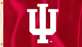 Indiana Hoosiers 3' x 5' Flag (Logo Only on Crimson) NCAA