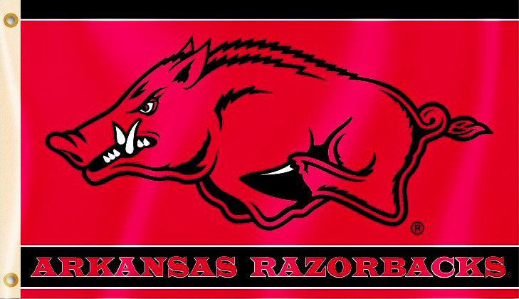 Arkansas Razorbacks 3' x 5' Flag (Logo w/ Wordmark) NCAA