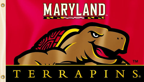 Maryland Terrapins 3' x 5'  Flag (Logo w/ Wordmark) NCAA