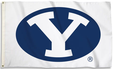BYU Cougars 3' x 5' Flag (Logo Only on White) NCAA