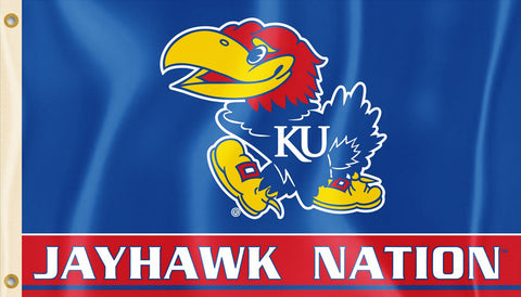 Kansas Jayhawks 3' x 5' Flag (Jayhawk Nation) NCAA