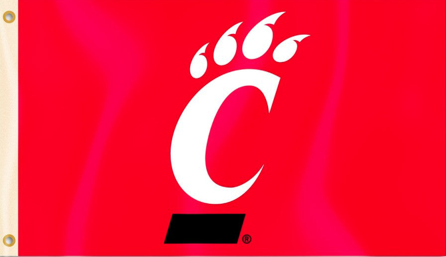 Cincinnati Bearcats 3' x 5' Flag (Logo Only on Red) NCAA